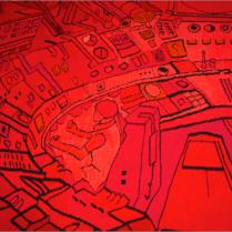 Kristin Sæterdal, Detalj av The Red Capsule (2011), Nordenfjeldske Kunstindutrimuseum