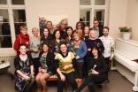 Nogen av årets deltagere ved Desemberutstilling 2018. Åpning. Foto: Diana Lindbjerg
