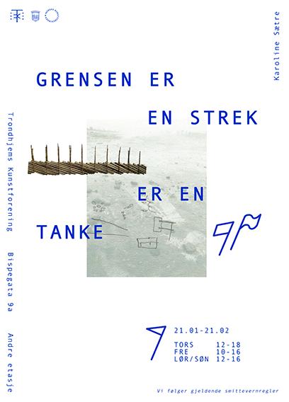 Plakat for Karoline Sætres utstilling