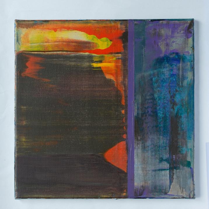 Akryl på lerret, 30x30 cm, 6000 kr