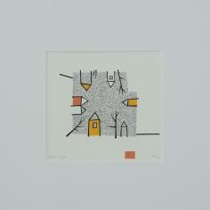 Barbro M. Tiller, silketrykk/serigrafi, 50x52 cm, 2000 kr