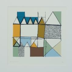 Barbro M. Tiller, silketrykk/serigrafi, 68x62 cm, 2500 kr