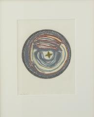 Vigdis Haugtrø, blyant og oljekritt på papir, 52x42cm inkl. ramme, 4500 kr